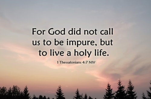called to live holy lives