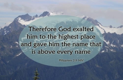 The exaltation of Jesus