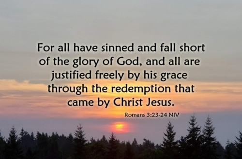 justified freely by God's grace