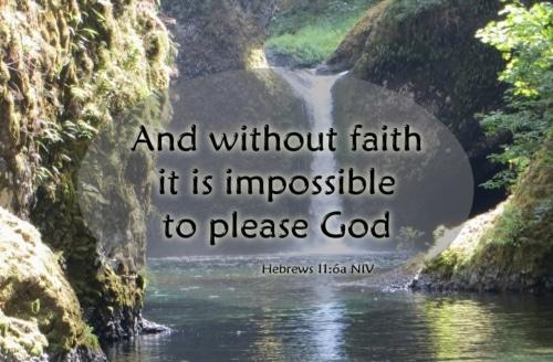 now faith is