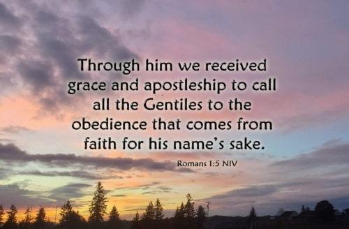 obedience that comes from faith