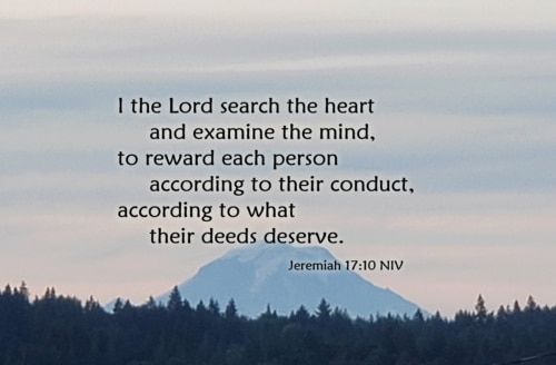 the Lord searches hearts and minds