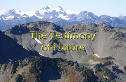 The testimony of nature