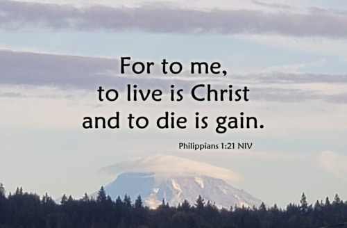 to die is gain. Life at home in heaven