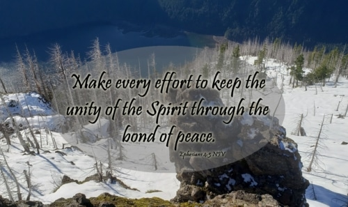 keep the unity of the Spirit