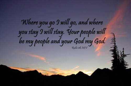 your God will be my God